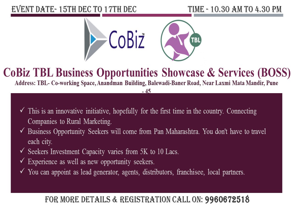 Business Opportunities Showcase & Services (BOSS) in association with TBL
