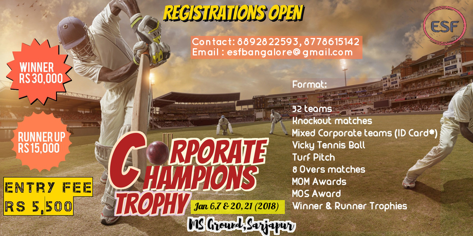 ESF Presents Corporate Cricket Tournament