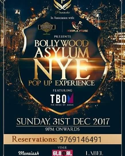 BOLLYWOOD ASYLM - A NYE 2018 POP - UP EXPERIENCE