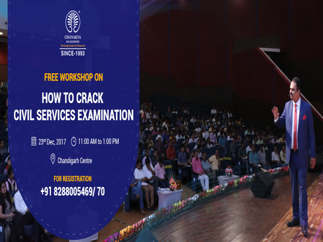 Exclusive Free Workshop for Civil Services Aspirants at Chandigarh