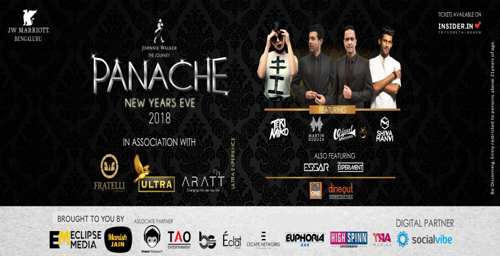 Panache New Year's Eve 2018 - Jw Marriott