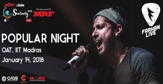 Saarang Popular night Farhan Akhtar