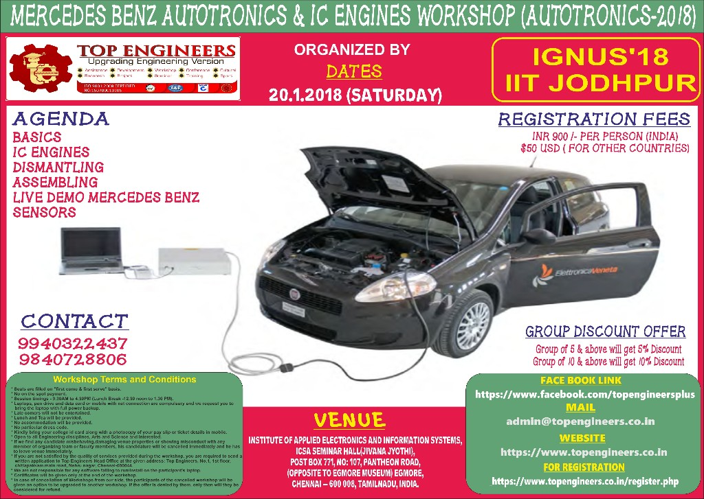 MERCEDES BENZ AUTOTRONICS AND IC ENGINES WORKSHOP (AUTOTRONICS-2018)