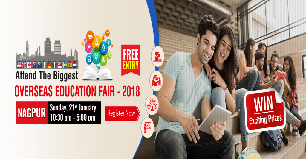Overseas Education Fair on 21st Jan 2018 - Krishna Consultants Nagpur
