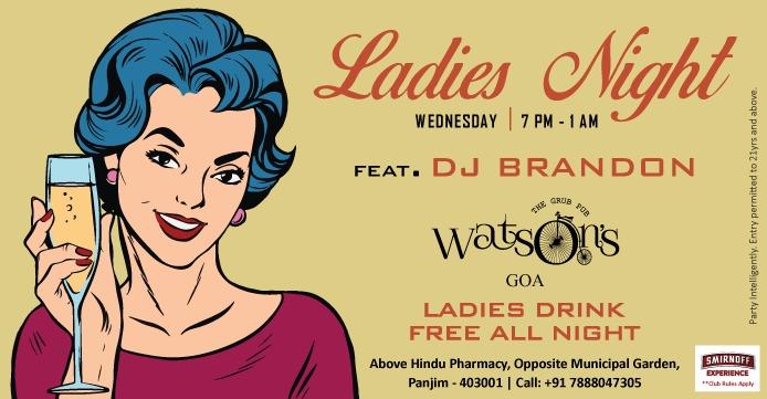 Ladies Night at Watson's 10 Jan