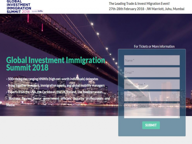 Global Investment Immigration Summit 2018