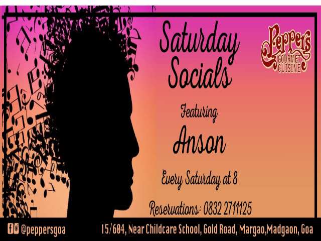 Saturday Socials at Pepper's 13th January