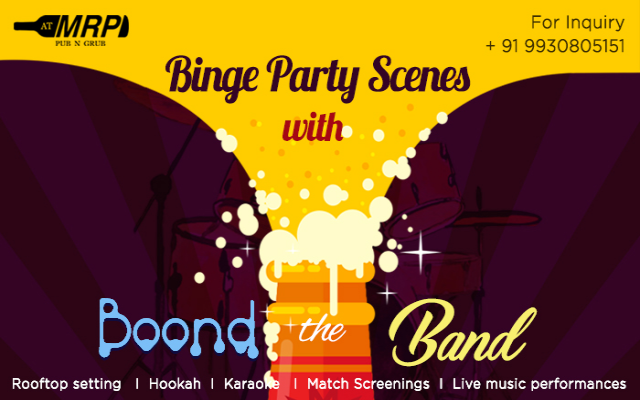 Binge Party Scenes With Boond The Band