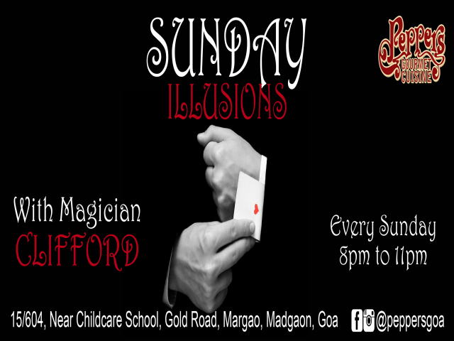 Sunday Illusions at Peppers 14th Jan 2018