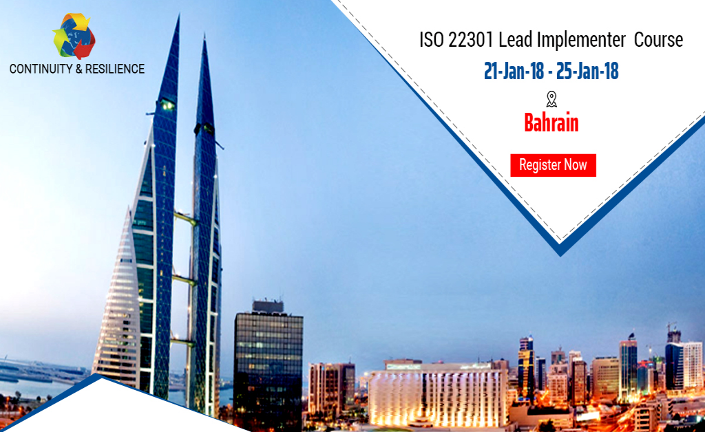 ISO 22301 Lead Implementer Workshop