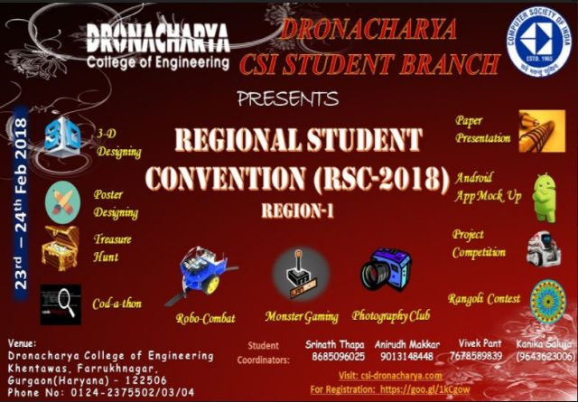 CSI Regional Student Convention 2018(RSC-2018)