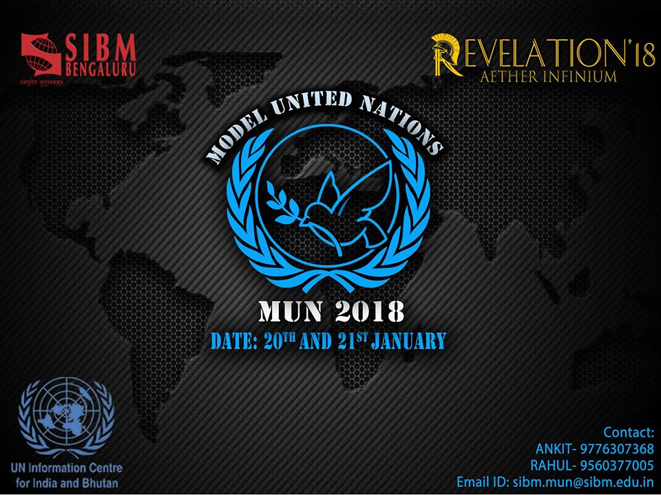 SIBM Bengaluru Model United Nations (MUN) | Revelation 2018