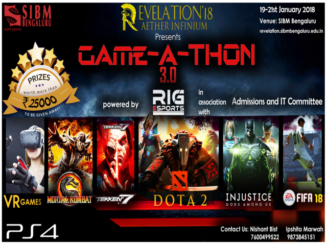 GAME-A-THON 3.0 - Revelation 2018