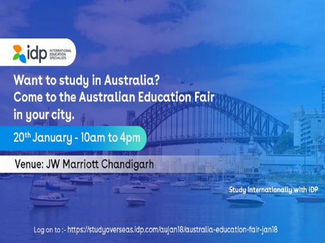 Australian Education Fair 2018 in Chandigarh (20th Jan)- IDP INDIA