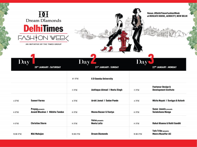 Dream Diamonds Delhi Times Fashion Week: 20th-22nd January, 2018
