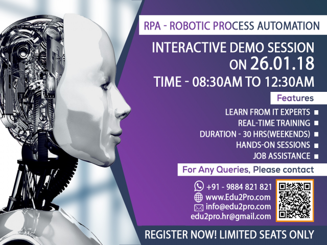 Interactive Session on Robotic Process Automation(RPA)