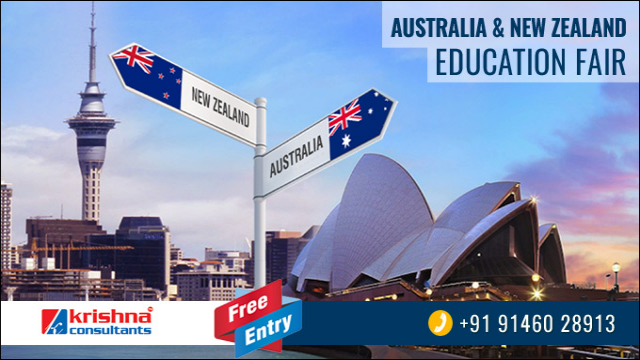 Australia New Zealand Education Fair on 31st Jan 2018 by Krishna Consultants