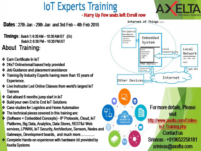 (Paid Event) 5-Day IoT Expert Training - Live Online Bootcamp
