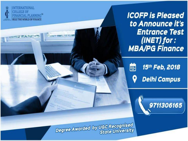 Entrance Test (INET) for MBA Finance