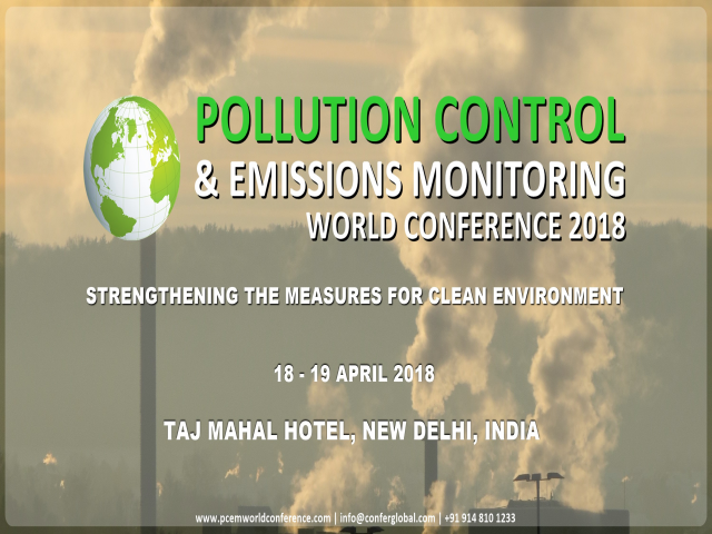 Pollution Control & Emission Monitoring World Conference & Exhibition 2018
