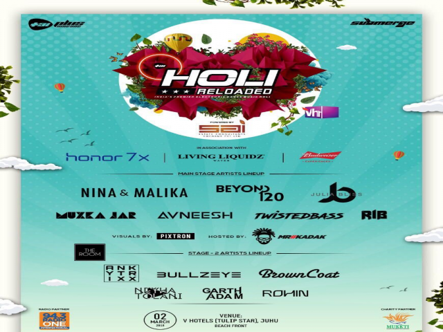 Enjoy India's premier EDM Holi festival with Popular Tomorrowland homeboy DJ Mak