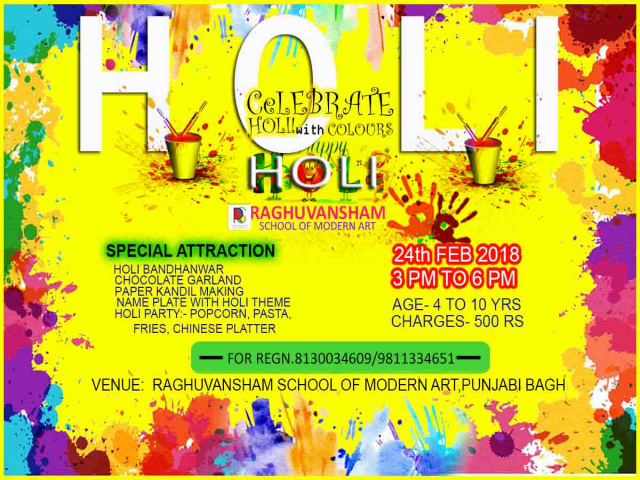 holi workshop