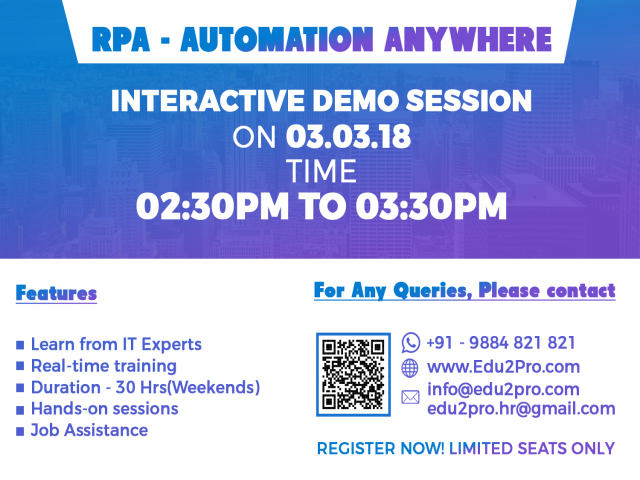 Free Interactive Session on RPA - Automation Anywhere