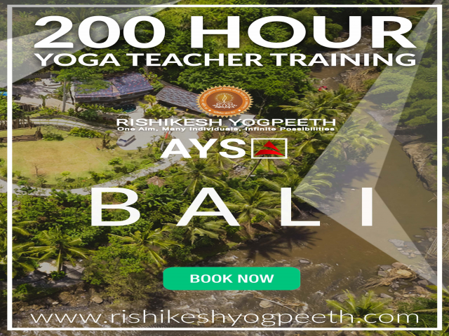 200 Hour Yoga Teacher Training in Bali, Indonesia Rishikesh Yogpeeth