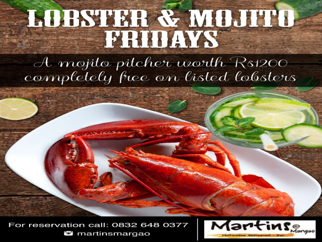 Lobsters & Mojito 16th March 2018