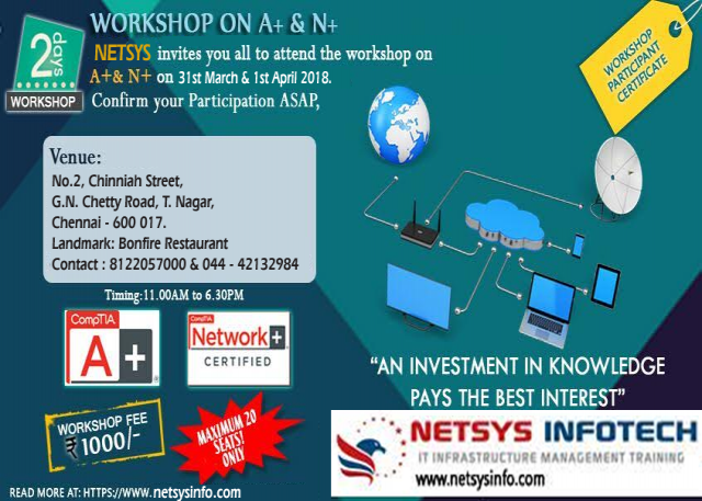 Workshop on A+ & N+ ( Hardware & Networking)