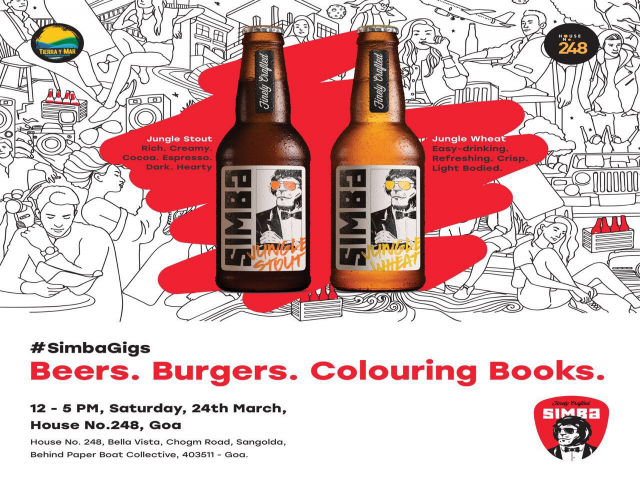 Beers. Burgers. Colouring Books