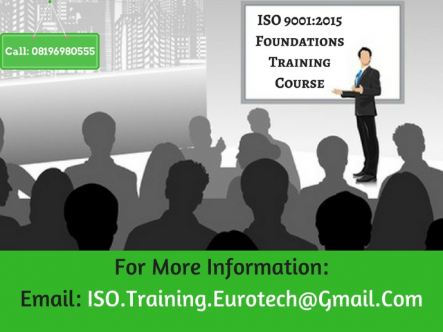 ISO 9001 2015 1 DAY FOUNDATION TRAINING COURSE DELHI 2018