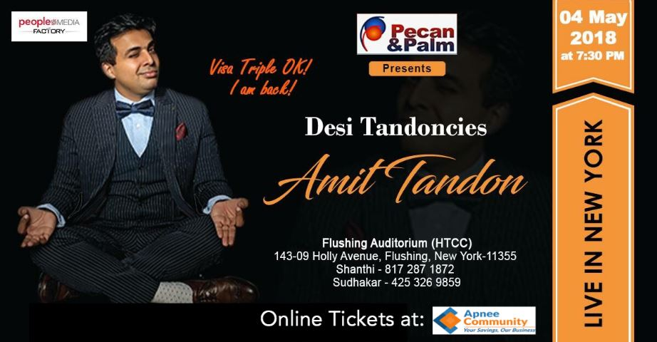 Amit Tondon Live in New York