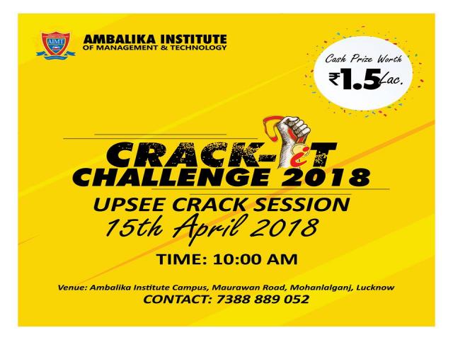 CRACK It Challenge 2018 | Mega UPSEE Crack Session