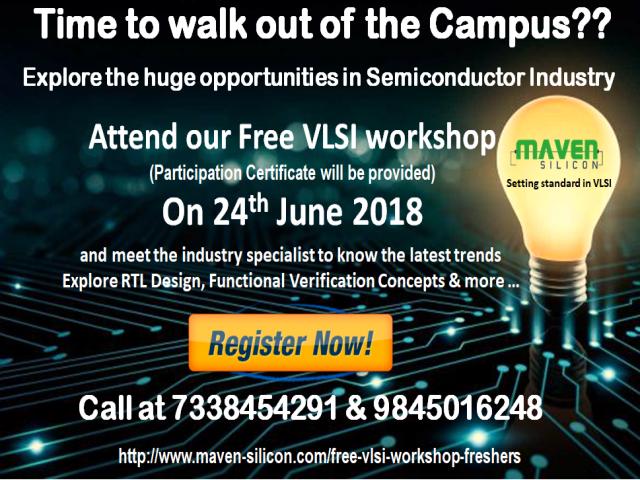 Free VLSI Workshop on 24th June 2018