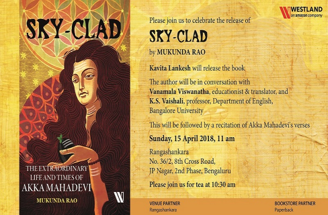 Director Kavita Lankesh to unveil biography of Akka Mahadevi by Mukunda Rao