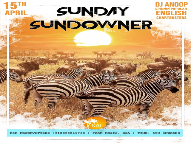Sunday Sundowner 15th April 2018