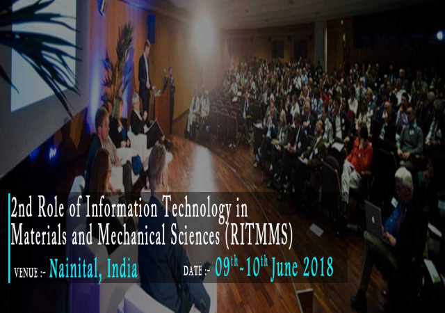The 2nd Role of Information Technology in Materials and Mechanical Sciences (RIT