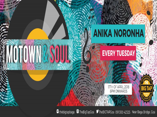 Motown & Soul Tuesday 17th April 2018