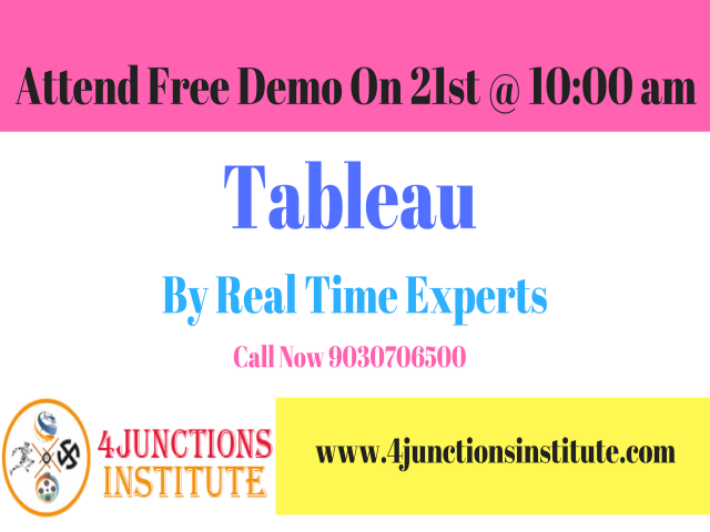 Tableau Training and Certification Free Demo