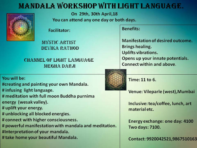 Mandala Workshop with Light Language