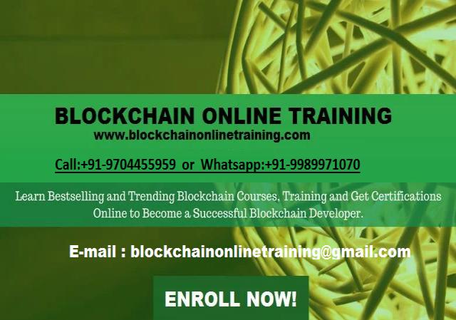 Online Training For Blockchain