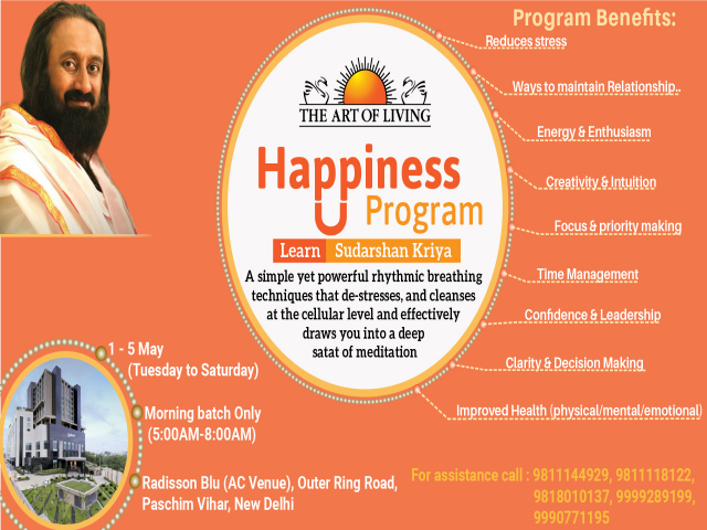 Happiness program in Radisson Blu, Paschim Vihar
