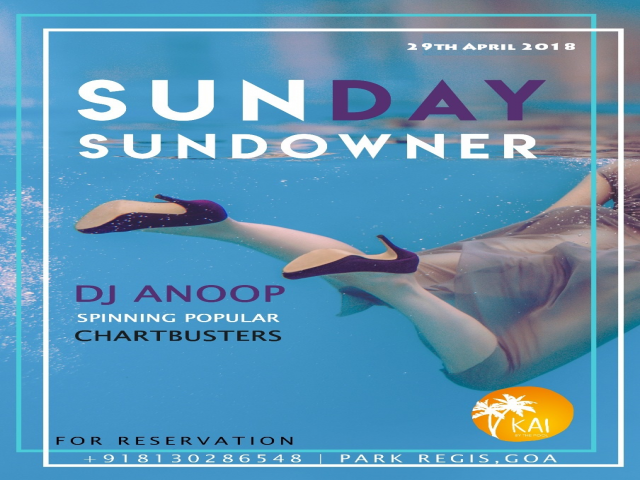 Sunday Sundowner 29th April 2018