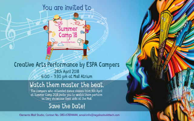 Creative Arts Performance by ESPA Campers at Elements Mall