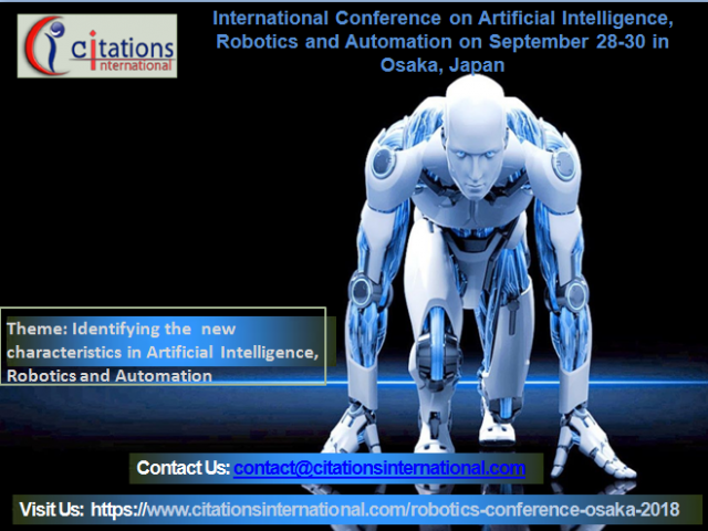 Artificial Intelligence, Robotics and Automation International Conference