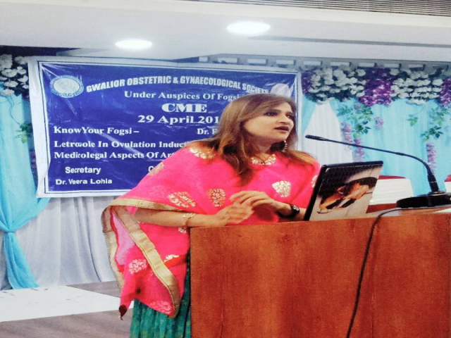Dr Shivani Sachdev Gour invided in Gwalior for CME of Obstetric & Gynaecological
