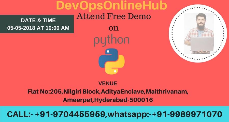 Free Demo on Pyhthon Training By DevOpsOnlineHub