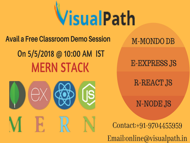 MERN Stack Classroom training Demo sessions by Visualpath