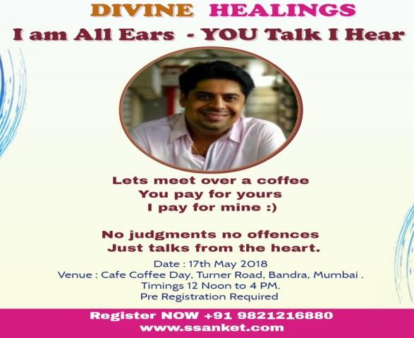 Spiritual healing with Ssanket Popat